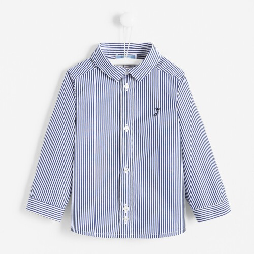 Toddler boy striped poplin shirt