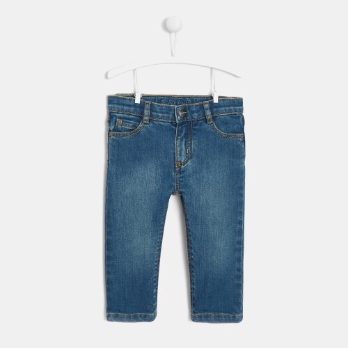 Toddler boy faded jeans