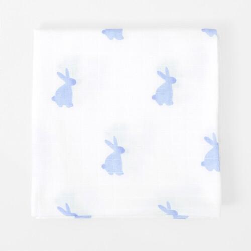 Rabbit print swaddle blanket
