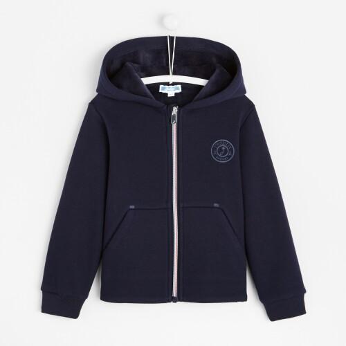 Boy zippered hoodie sweatshirt