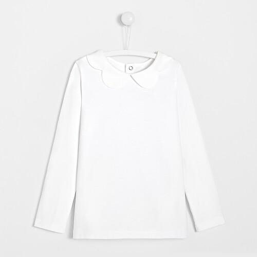 Girl t-shirt with petal collar