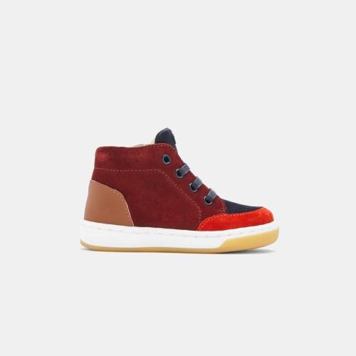 Baby boy split leather sneakers