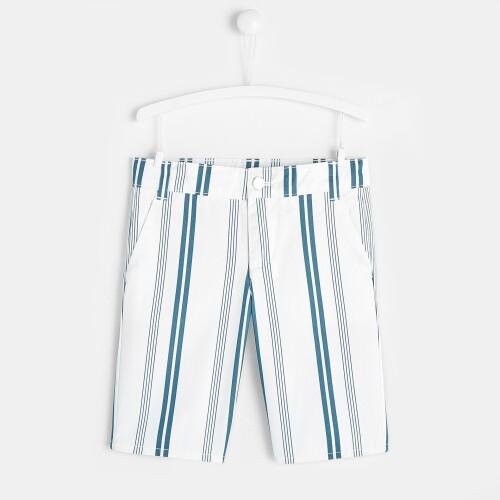 Boy striped Bermuda shorts