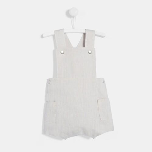 Baby boy linen overalls
