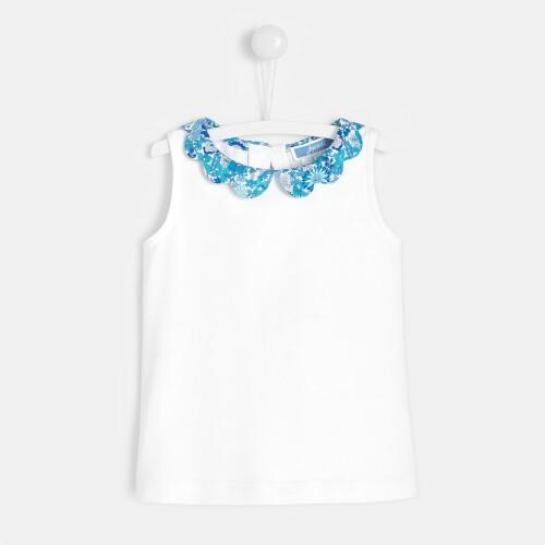 Toddler girl t-shirt with Liberty collar