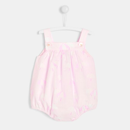 Baby girl bloomers with parasol motif