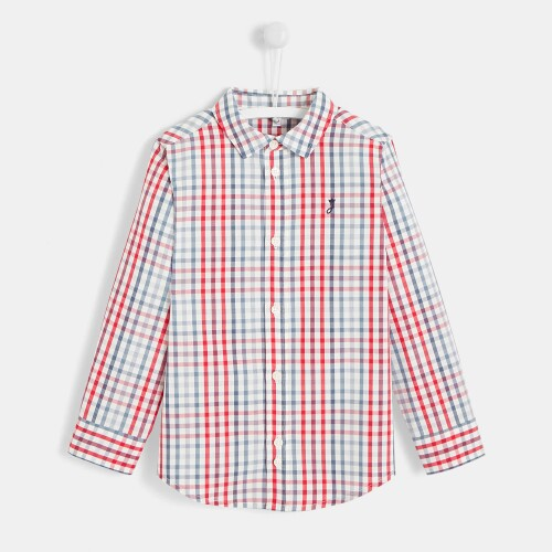 Boy checked button-down shirt