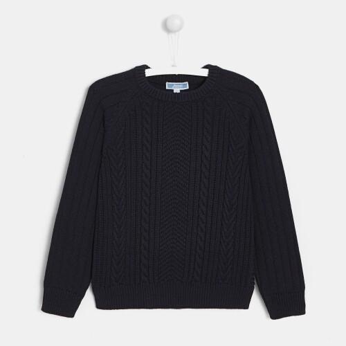 Boy Aran-style sweater