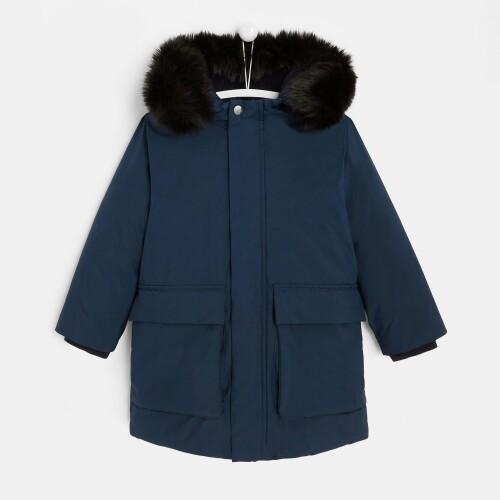 Boy full-length puffer jacket