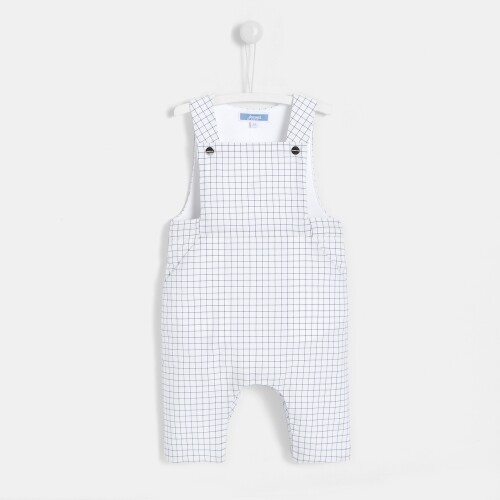 Baby boy checked overalls