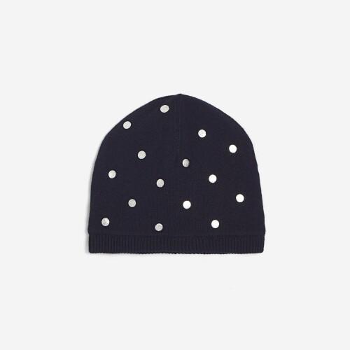 Girl silver polka dot hat
