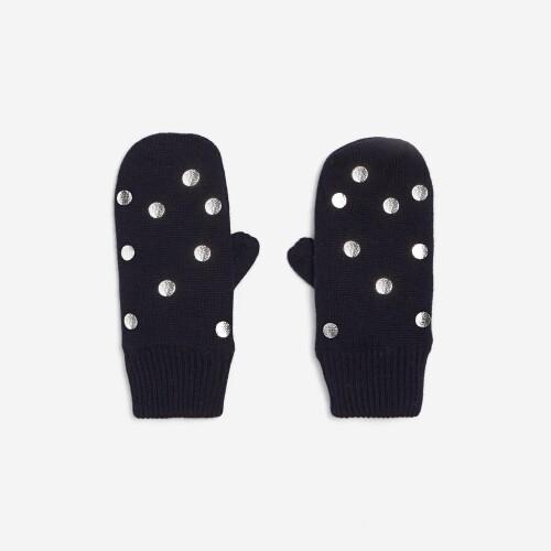 Girl polka dot mittens