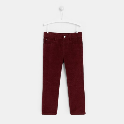Boy lined corduroy pants