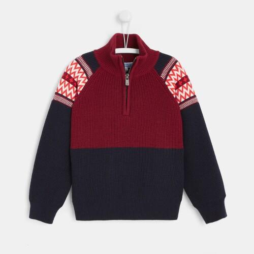 Boy mock neck sweater