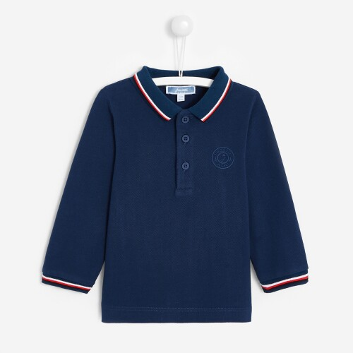 Toddler boy long-sleeved polo shirt