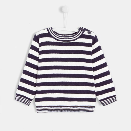Toddler boy sailor stripe sweater