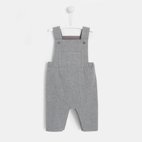 Baby boy flannel overalls