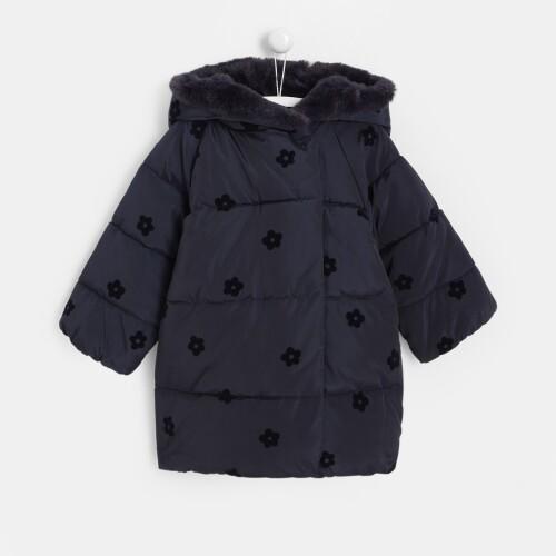 Toddler girl mid-length puffer jacket