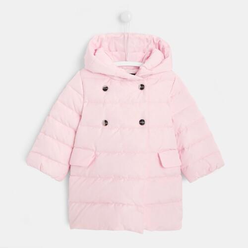 Toddler girl long puffer jacket