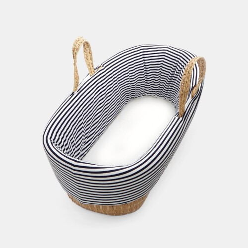 Striped bassinet bedding