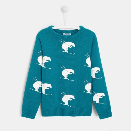 Boy bear print sweater