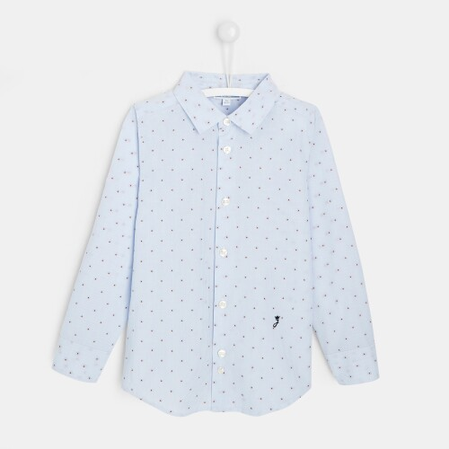 Boy poplin button-down shirt