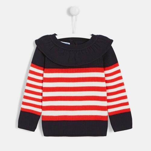 Toddler girl sailor stripe shirt
