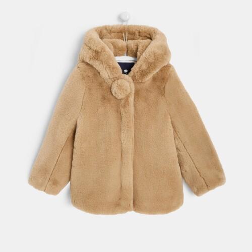 Girl faux-fur coat