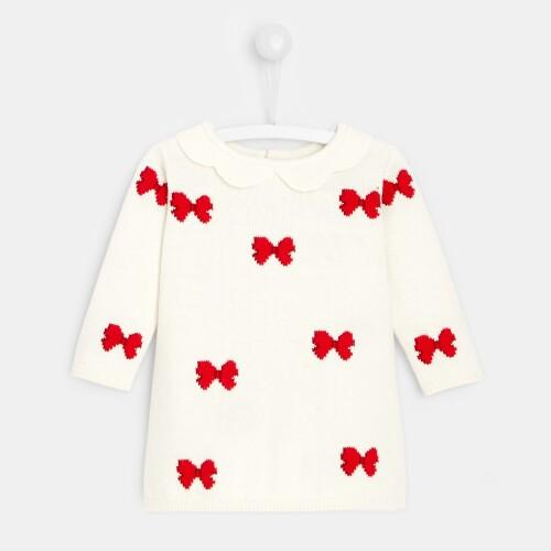 Baby girl Intarsia bow dress