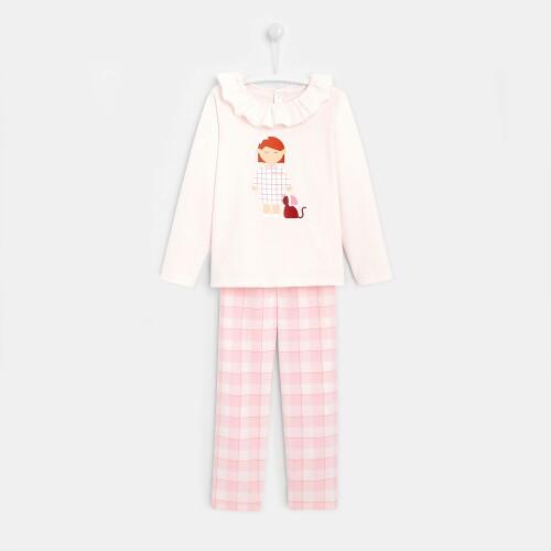 Girl checked pajama pants