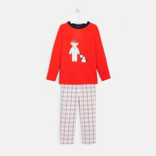 Boy pajamas with flannel pants