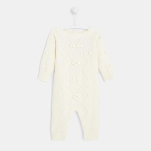 Baby girl knit onesie