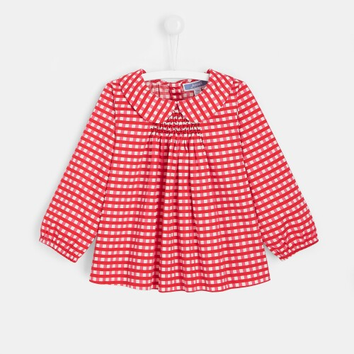 Toddler girl checked blouse