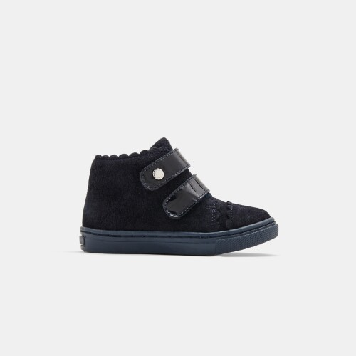 Baby girl bi-material ankle boots