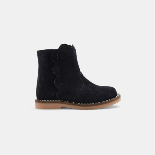 Baby girl split leather boots