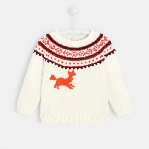 Toddler boy jacquard sweater