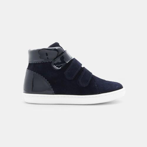 Girl bi-material high-top sneakers
