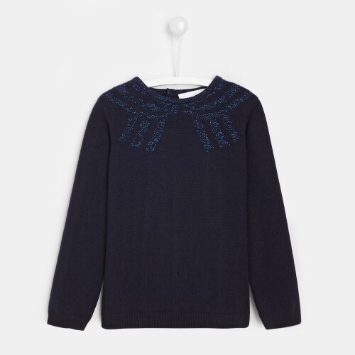 Girl sweater with illusion effect