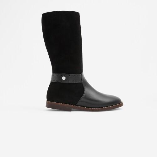 Girl bi-material boots