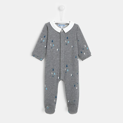 Baby boy little pine trees footed pajamas
