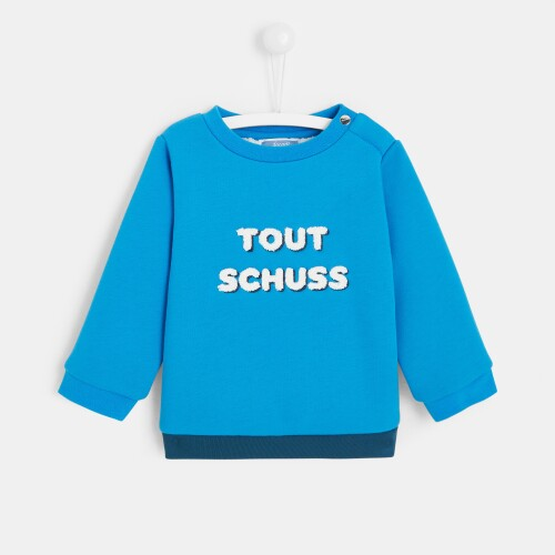 Toddler boy slogan sweatshirt