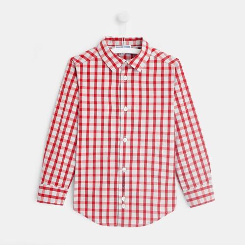 Boy checked shirt
