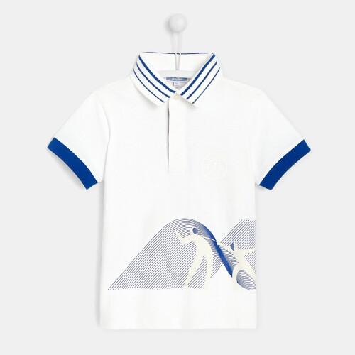 Boy polo shirt with fencer