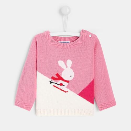 Toddler girl color block sweater
