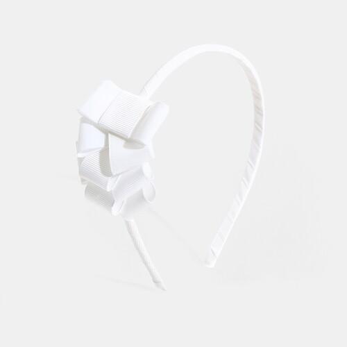 Girl headband with waterfall bow