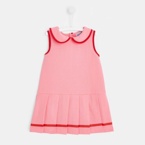 Toddler girl piqué knit dress