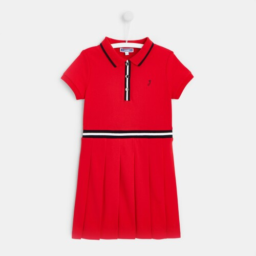 Girl cotton piqué dress
