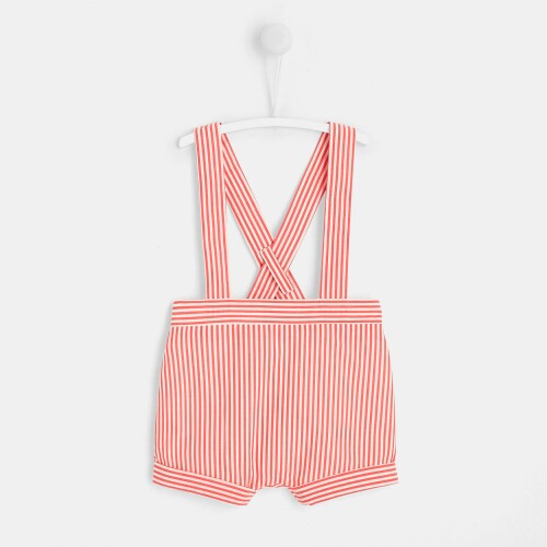 Baby boy bloomers with suspenders