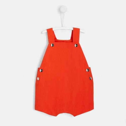 Baby short twill overalls