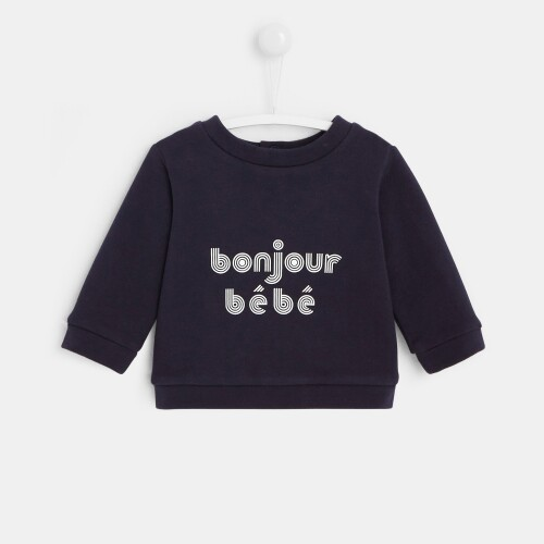 Baby slogan sweatshirt